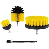4Pcs/Set Drill Brushes Attachment Kit Drill Scrubbing Brush Cleaner Power Cleaning Bathroom Tub Pool Tile,model: 4Pcs