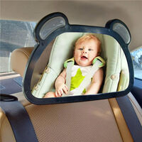 LED Rear View Mirror with Remote Control Real-time Backseat Infant Baby Child Monitor Adjustable Car Mirror USB Charging Baby Mirror,model:Black USB LED Rear View Mirror with Remote Control