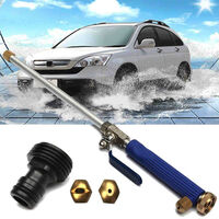 Good Quality Alloy Wash Tube Hose Car High Pressure Power Water Jet Washer with 2 Spray Tips Tools Auto Maintenance Cleaner Watering Lawn Garden,model:Light blue