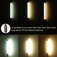 Lixada 10W Eye Protection LED Clamp Clip Light Table Desk Reading Lamp 10-level Brightness Adjustable 3 Lighting Colors USB Powered Flexible Portable Dimmable 36 LEDs