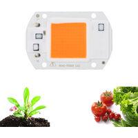 20W 30W 50W Full Spectrum High Power LED Chip Grow Light for Indoor Greenery Plants Flowers,model: 20W