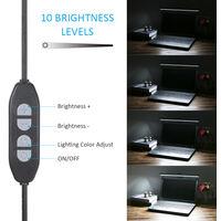 USB Powered Computer Monitor Lamp Screen Bar Light Eye-caring E-Reading LEDs Light 10 Brightness Adjustable & 3 Color Modes,model:Black