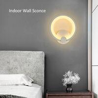 Modern Wall Lights LEDs Acrylic Lamp Lighting AC85-265V 12W Warm White Indoor Sconces for Bedroom Corridor Stairs Bathroom,model:Warm white type 3