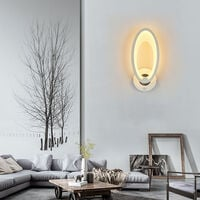 Modern Wall Lights LEDs Acrylic Lamp with ON/OFF Switch AC85-265V 10W Warm White Indoor Sconces Lighting for Bedroom Corridor Stairs Bathroom,model:Warm white type 2