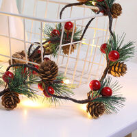 Pine Cones Jingle Bell LEDs Christmas String Lights 6.56ft Batterys Operated Christmas Tree Decoration Fairy Lights for Bedroom Room Indoor Outdoor Garden,model: type 2