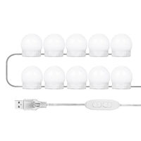 Tomshine Vanity Mirror Fill Lights with 10 Bulbs Adjustable 10 Brightness & 3 Color Temperatures USB Mirror String Light for Makeup Dressing Table,model: 10 bulbs