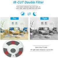 5MP( 1080P / 1440P / 1520P ) AHD CVI TVI CVBS IR CCTV Camera 1.7mm Fisheye 180