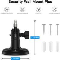 3 Pack Adjustable Wall Mount for ARLO HD/ARLO PRO/ARLO PRO2/ARLO GO/ARLO ULTRA/WYZE CAM PAN Home Camera Mounting Bracket Outdoor Indoor for Home Security, Black,model:Black 3PCS