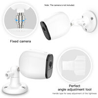 1 Pack Adjustable Wall Mount for ARLO HD/ARLO PRO/ARLO PRO2/ARLO GO/ARLO ULTRA/WYZE CAM PAN Home Camera Mounting Bracket Outdoor Indoor for Home Security, White,model:White 1PCS