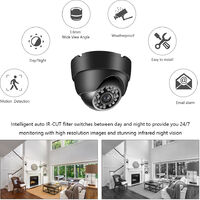 Dome Bullet CCTV Camera with Metal Housing Indoors and Outdoors Use Intelligent Motion System IP66 Waterproof Pal System,model:Black Pal System Camera