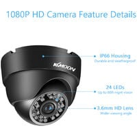 Dome Bullet CCTV Camera with Metal Housing Indoors and Outdoors Use Intelligent Motion System IP66 Waterproof NTSC System,model: NTSC System