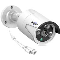 3MP POE IP Camera Outdoor Waterproof Home Security Camera Support Night Vision Motion Detection Remote Access,model:White