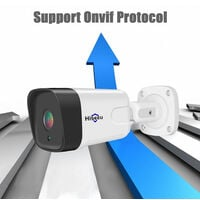 2MP POE Camera Outdoor/Indoor Waterproof Security IP Camera Night Vision Surveillance Camera with Audio Support Night Vision Motion Detection,model:White