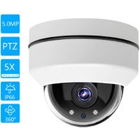 5MP Super High Definition Security Camera Outdoor Waterproof Surveillance POE IP Camera Support Night Vision Motion Detection Alarm,model:White