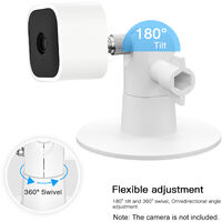 2 Pack Adjustable Wall Mount Compatible with Blink Mini / Blink XT/ XT2 Home Camera Mounting Bracket Outdoor Indoor for Home Security, White,model:White 2