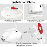 1 Pack Adjustable Wall Mount Compatible with Infant DXR-8 Home Camera Mounting Bracket for Home Security,model:White 1