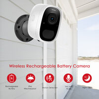 Wireless Rechargeable Battery Camera, 1080P High Definition Wireless Home Security Camera with Night Vision,Motion Detection,Remote Access,2-Way Audio, IP65 Waterproof,model:Black