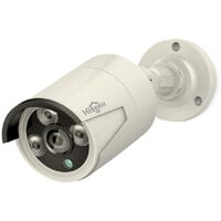 3MP POE Security Camera with Audio Night Vision Motion Detection Remote Access IP66 Waterproof,model:White