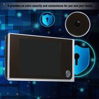 Digital Door Camera 3.5inch LCD Color Screen 120 Degree Peephole Viewer Door Eye Viewer (Batteries are not included)