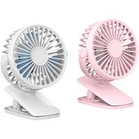 X011 Portable Desk Fan Clip-on Fan Desktop Cooling Fan USB Power 3-Speed Adjustable Small Air Cooler Personal Fan for Office Home Use,model:White