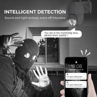 WiFi Security Camera Outdoor, 3MP Wireless Pan Tilt 360