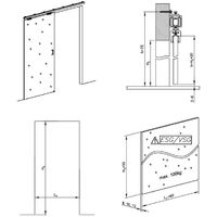 Schiebetürbeschlag SLID/'UP 190 GLAS für Innenbereich Laufschiene 200 cm 1 Gla