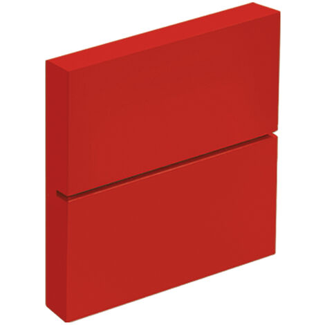 Support fixe pour étagères en verre de style jeune, fabriqué en DM et fini en rouge.