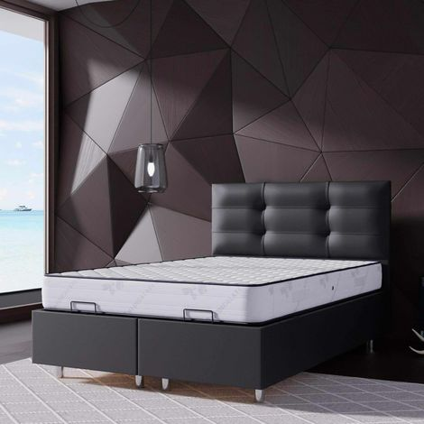 ASIA - Lit coffre 140x190 cm noir