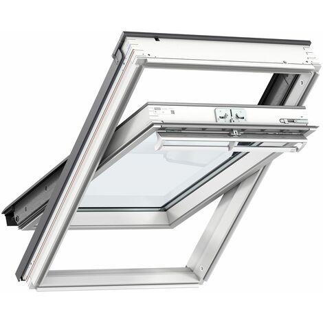 VELUX fenêtre de toit GGL MK04 2057 (78x98cm) bois, avec vitrage 57FR et raccord ardoise VELUX EDL0000