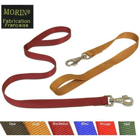 Laisse nylon pour chien et chiot. 1.50 m x 12 mm Désignation : Laisse Gold | Longueur : 1.50 m | Largeur : Laisse Gold MORIN 156109