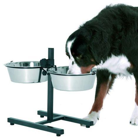 Support double gamelle pour chiens Désignation : Support T2 | Type : Avec 2 gamelles MORIN 153-184