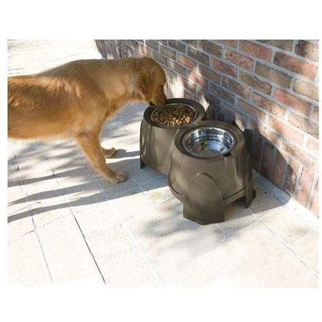 Support double gamelles pour chiens Ergo Feeder Désignation : Support gamelles MORIN 250105