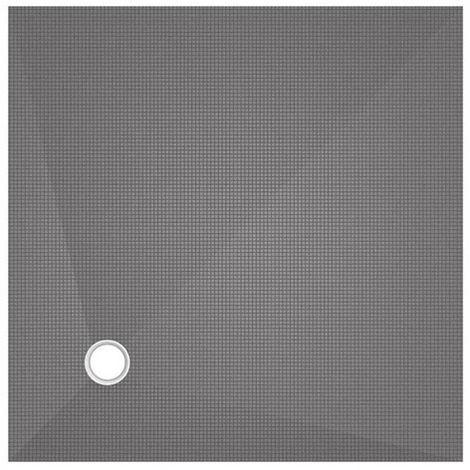 Receveur carré Wedi Fundo Primo écoulement excentré 1200x1200x40mm