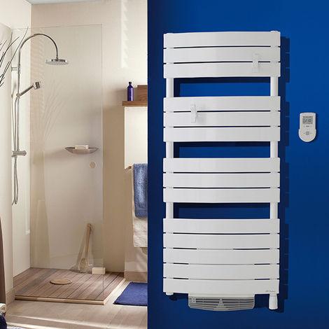 Sèche-serviettes digital Riviera avec soufflerie 1750W blanc