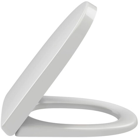 Abattant compact ODEON UP frein de chute et déclipsable-fixation rapide - Blanc