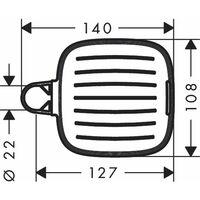 HANSGROHE Porte-savon chromé Casetta SoftCube