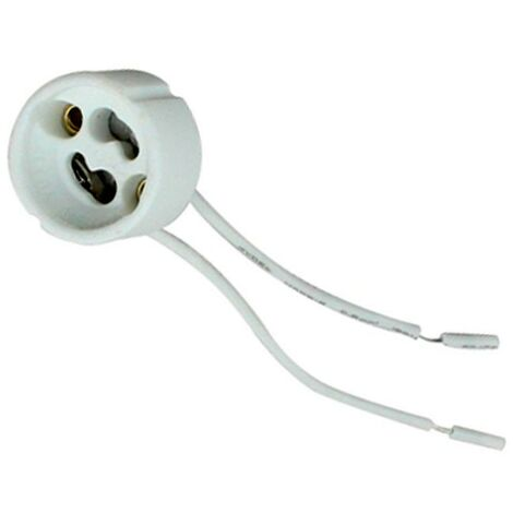 Pack de 10 portalámparas GU10 cerámico - Blanco