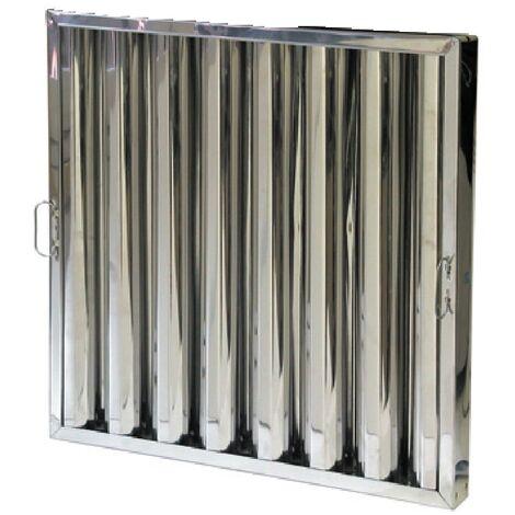 Filtro separador de grasa con lamas para campanas extractoras industriales 490x490x50mm