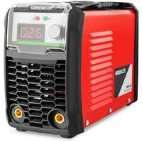 Soldador MMA200 de corriente continua. Potencia entre 25A-200A. Voltaje 230V. Tecnología IGBT. Electrodos 2mm-3,2mm - Greencut