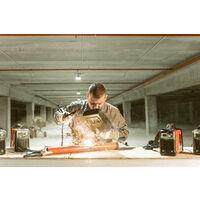 Soldador inverter MMA250 de corriente continua, potencia entre 25A-250A, voltaje 230V, tecnología IGBT, kit electrodos entre 2mm-4mm - Greencut