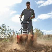 Motoazada eléctrica con cable, 1200W, 230V, 4 cuchillas intercambiables, ancho trabajo 30cm, profundidad 23cm - GREENCUT