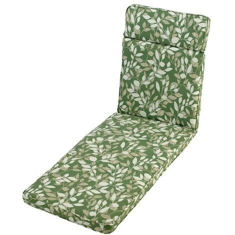 Cotswold Leaf Sun Lounger Cushion Outdoor Garden Furniture Cushion