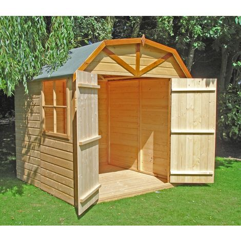 Barn Double Doors Tongue and Groove Garden Shed Workshop Approx 7 x 7 Feet