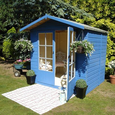 Lumley Shiplap Summerhouse Garden Sun Room Approx 7 x 5 Feet