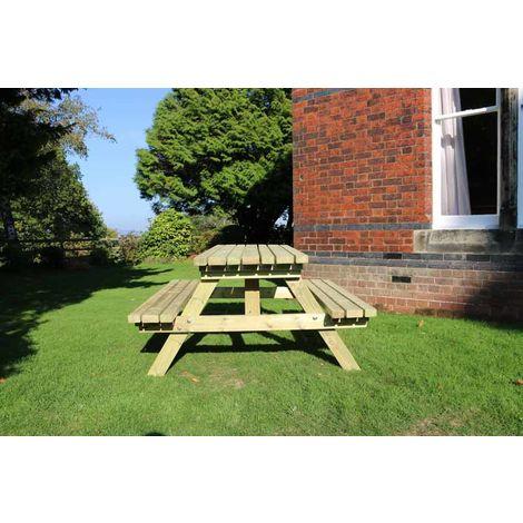 Deluxe Picnic Table 1800, wooden garden bench