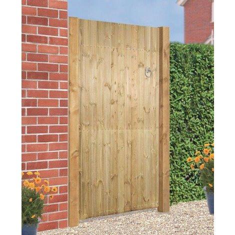 Carlton Flat Top Wooden Gate 1800mm H X 1050mm W - Tanalised