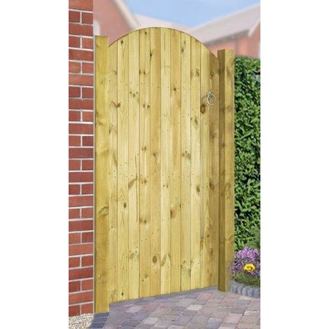 Carlton Bow Top Wooden Gate 1800mm H X 750mm W - Tanalised