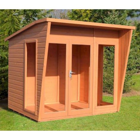 Highclere 8' x 8' Double Door with Three Windows Summerhouse