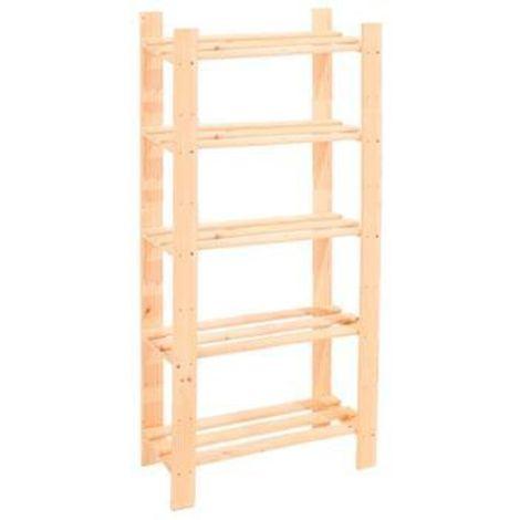 5 Shelf Slatted Storage Unit