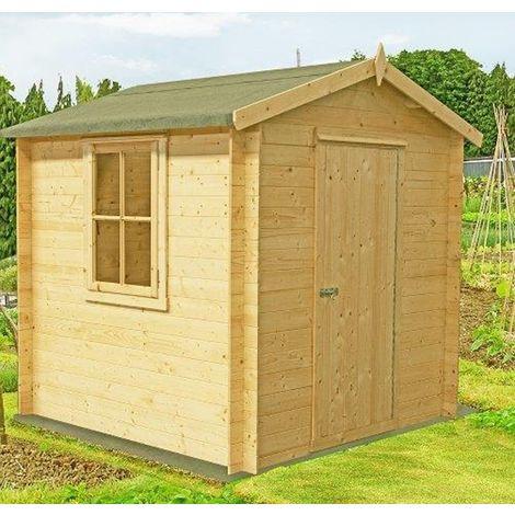 Danbury Log Cabin Home Office Garden Room Approx 7 x 7 Feet